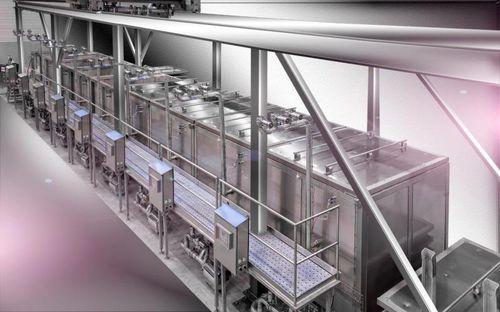 cuocitore industriale per carne / a vapore / automatico / batch