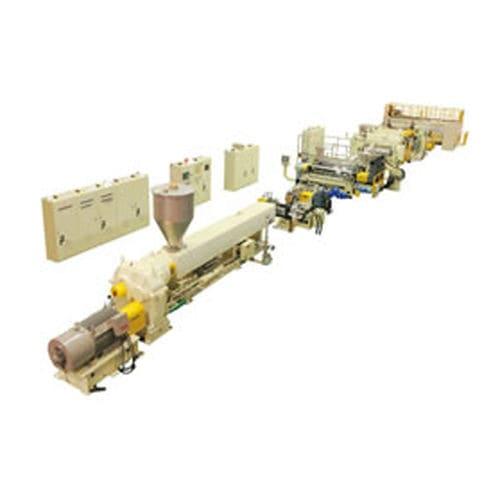 linea di estrusione per pannelli in materia plastica / di lastre / per termoplastici