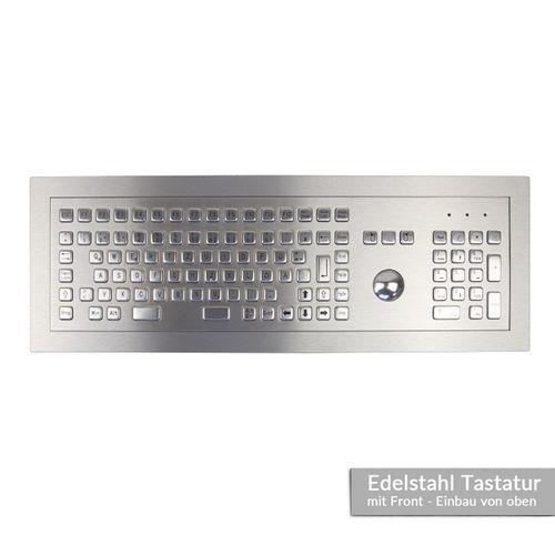 tastiera ad incastro / a tasti meccanici / 101-104 tasti / con trackball