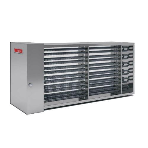 riscaldatore d'aria / di condotti / ad alette / a convezione