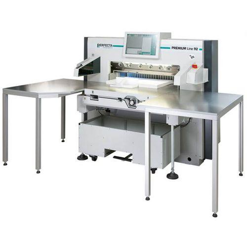 taglierina da carta con display digitale / ad alta velocità / con luce di precisione / con tavolo di alimentazione