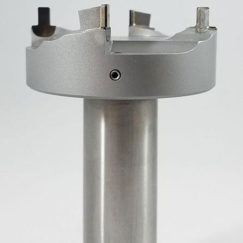 fresa integrale / rivestita / PCD / per alluminio