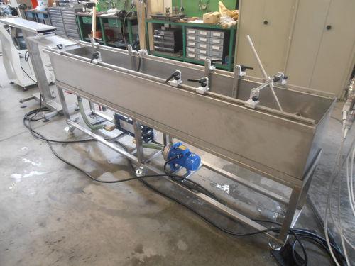 vasca di raffreddamento in acciaio inossidabile / per tubi / per estrusione / per profilati