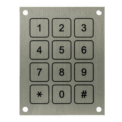 tastiera numerica 12 tasti / ad incastro / in alluminio / in acciaio inossidabile