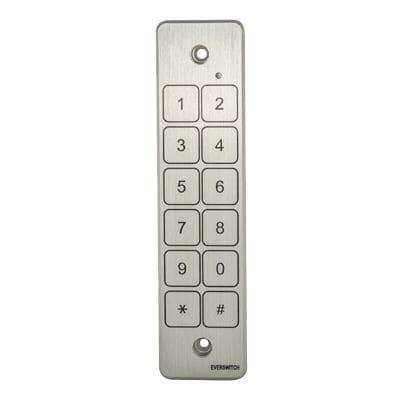 tastiera numerica 12 tasti / a muro / in metallo / IP68
