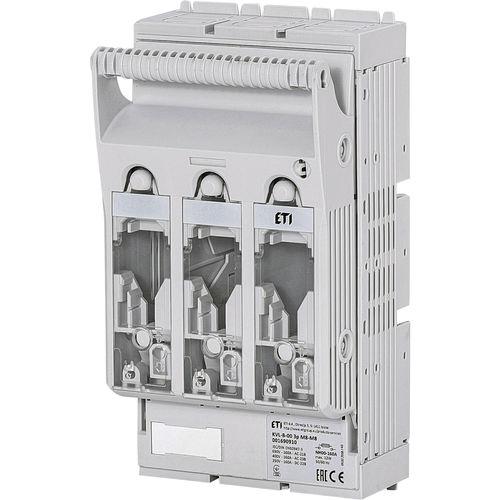 interruttore-sezionatore con fusibile NH / automatico / montato su binario elettrificato / 3 poli