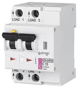 interruttore automatico contro gli archi elettrici / termico / della corrente residua / 2 poli