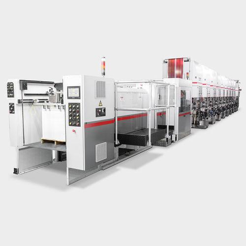 macchina da stampa offset foglio a foglio / grande formato / per via umida / a 8 colori