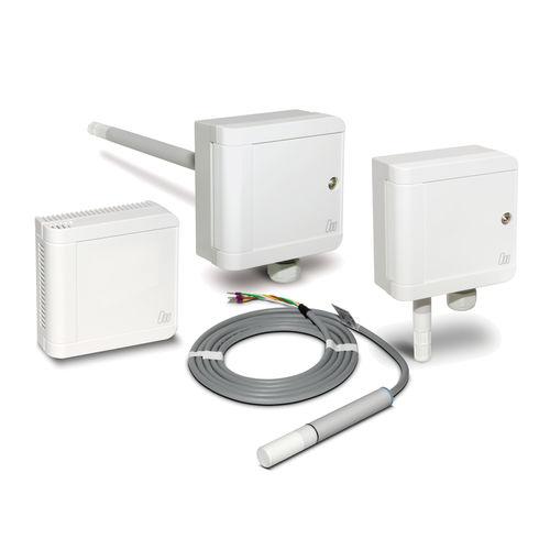 trasmettitore di umidità relativa / a parete / installato su condotto / per condotto d'aria