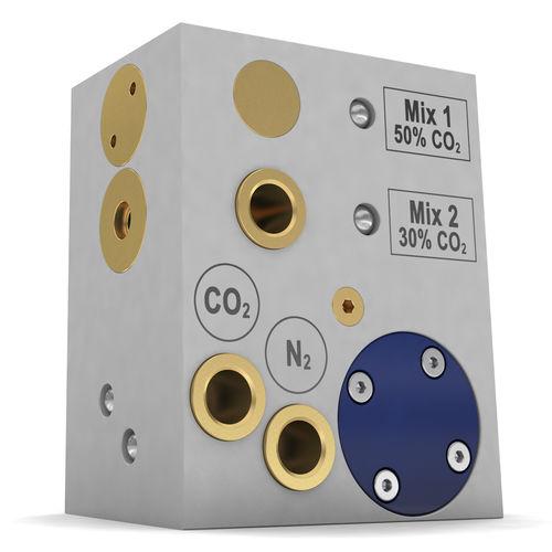 miscelatore dinamico / continuo / di gas / compatto