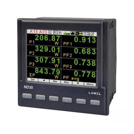 analizzatore per rete elettrica / di tensione / di colore / armonico