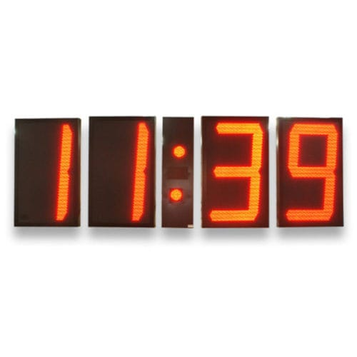 orologio per interno / calendario / cronometro / a 4 cifre