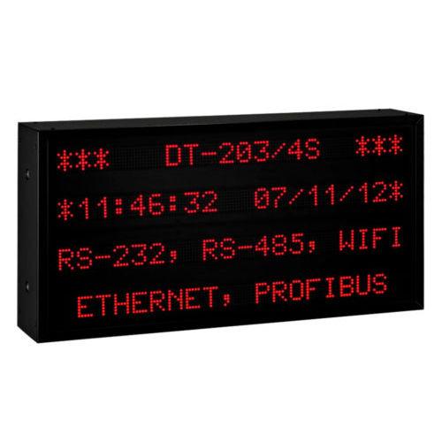 display LED / alfanumerico / grande formato / RS-232