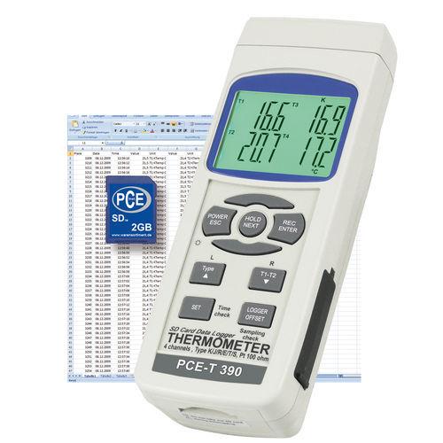 termometro ad infrarossi / digitale / portatile / multicanale