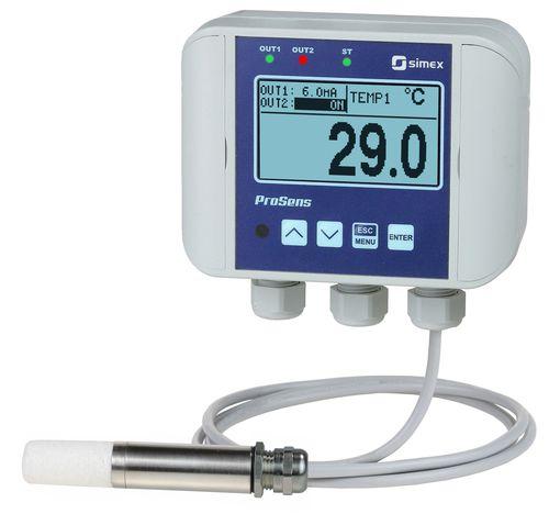 sensore di umidità relativa / a parete / dell'aria / per applicazioni ad alta temperatura