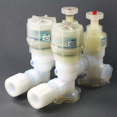 valvola a membrana / manuale / a comando pneumatico / di distribuzione