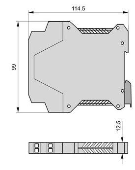 isolatore di segnale / di corrente / a doppio canale