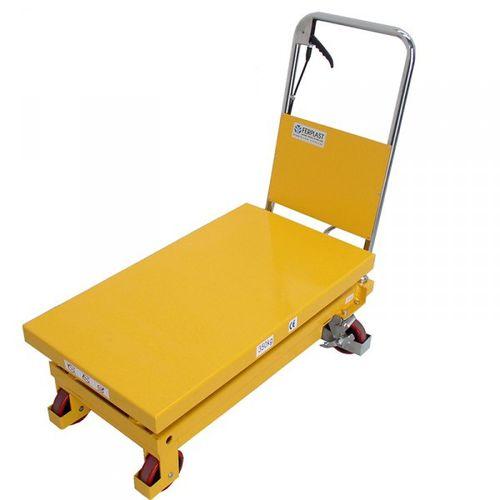 tavola elevatrice a doppia forbice / manuale / a pedale / mobile