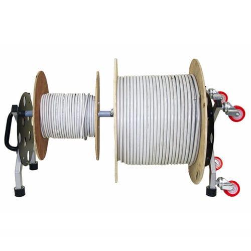 svolgitore di bobina / per torrette / di cavi / a rulli