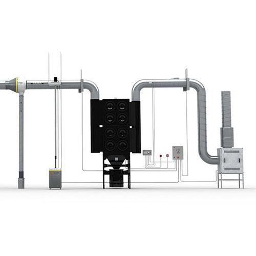 aspiratore di fumo mobile / di saldatura / con per bracci aspiranti multipli