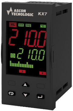 controllore di temperatura con doppio display a LED / PID / programmabile / IP54