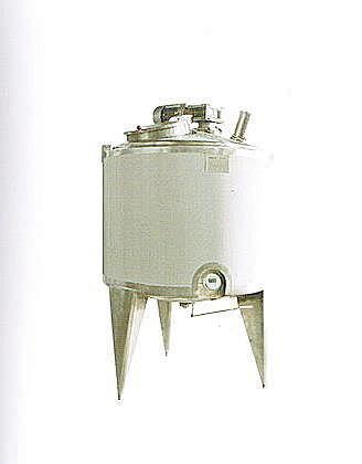 serbatoio in acciaio inossidabile / riscaldato / con agitatore / verticale