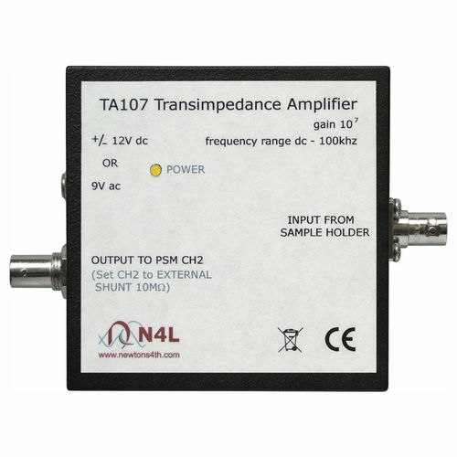 amplificatore di transimpedenza / di misura / a banda larga