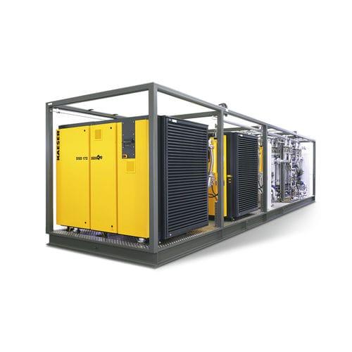 compressore per elio / fisso / con motore elettrico / a vite