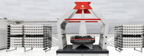 macchina per tessere ad alta velocità / circolare