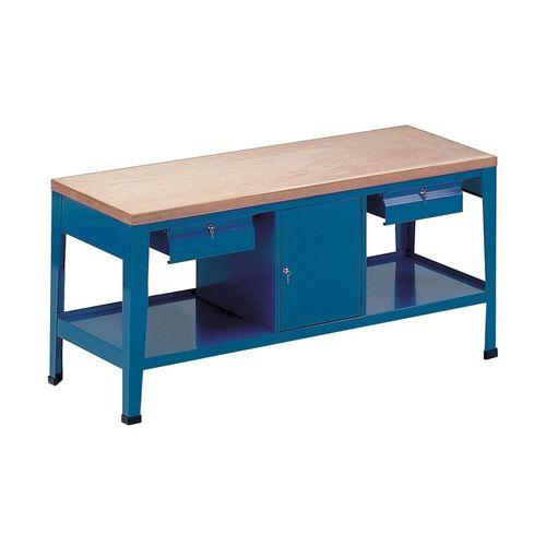 banco da lavoro in legno / 2 cassetti / a scomparti