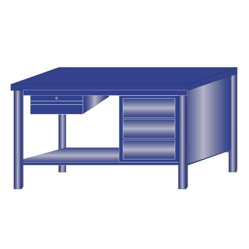 banco da lavoro in metallo / monoblocco / 4 cassetti