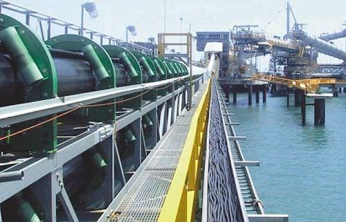 nastro trasportatore tubolare / flessibile / in tessuto / industriale