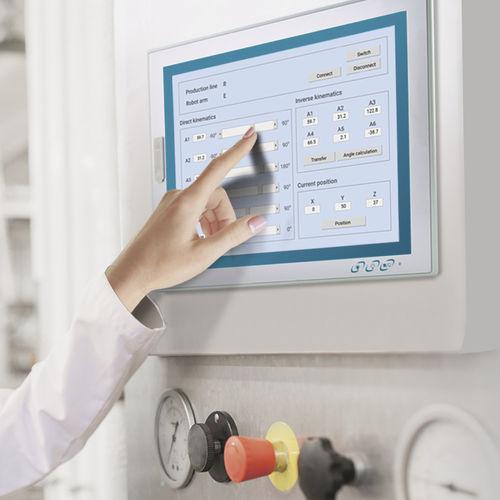 panel PC TFT LCD / con touch screen resistivo a 5 fili / 12