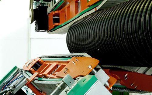 traino a cingoli per linea di estrusione di tubi corrugati