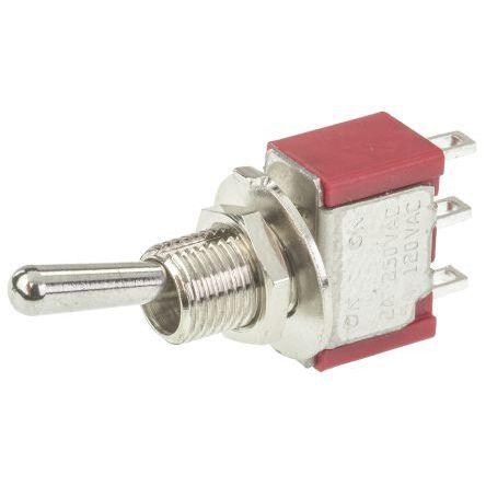 interruttore a bascula / SPDT / montato su pannello / in miniatura