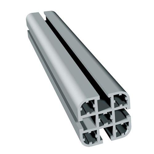 profilo per telai / in alluminio anodizzato / con scanalature / a sezione rettangolare