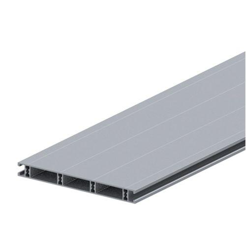 profilo in alluminio anodizzato / con scanalature / a sezione rettangolare / piatto