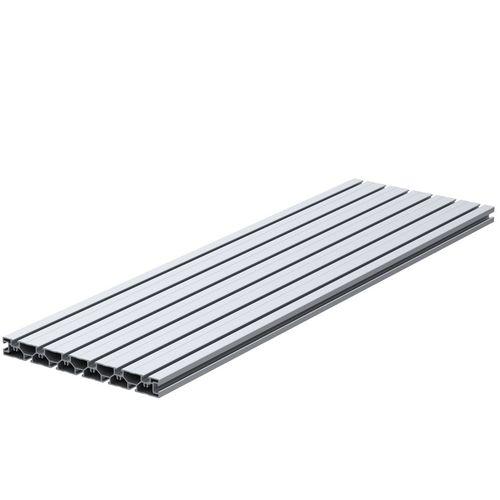 profilo in alluminio anodizzato / a sezione rettangolare / piatto / a T