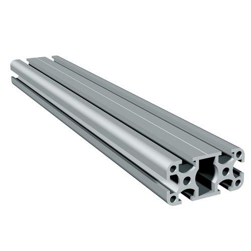 profilo in alluminio anodizzato / con scanalature / rettangolare / leggero