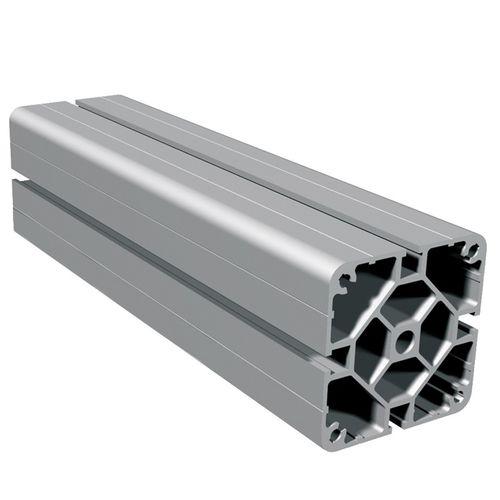 profilo in alluminio anodizzato / con scanalature / a sezione rettangolare / leggero