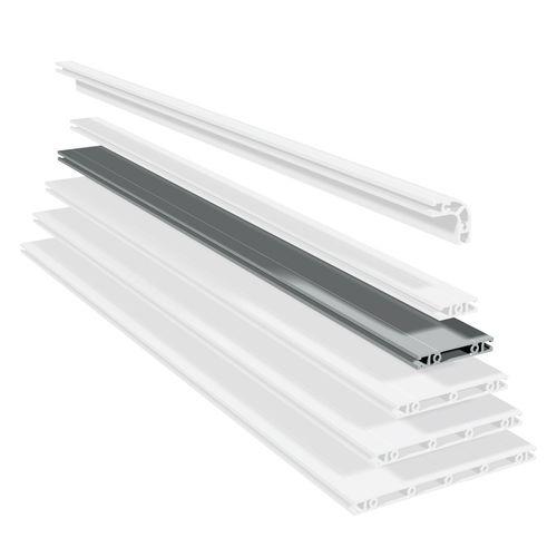 profilo in alluminio anodizzato / con scanalature / piatto / estruso