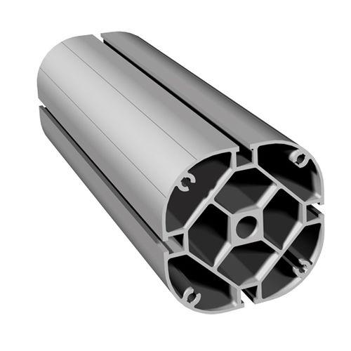 profilo in alluminio anodizzato / con scanalature / circolare / estruso