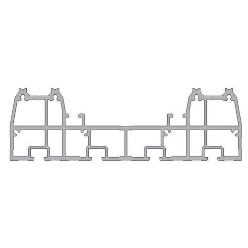 profilo in alluminio anodizzato / con scanalature / a T / di costruzione
