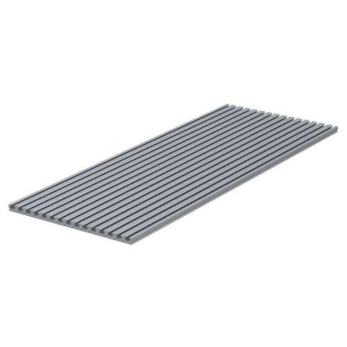 profilo in alluminio / con scanalature / a sezione rettangolare / piatto