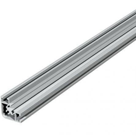profilo in alluminio anodizzato / con scanalature / a L / a T