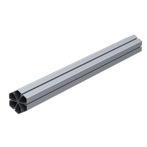 profilo in alluminio anodizzato / con scanalature / a T / tubolare