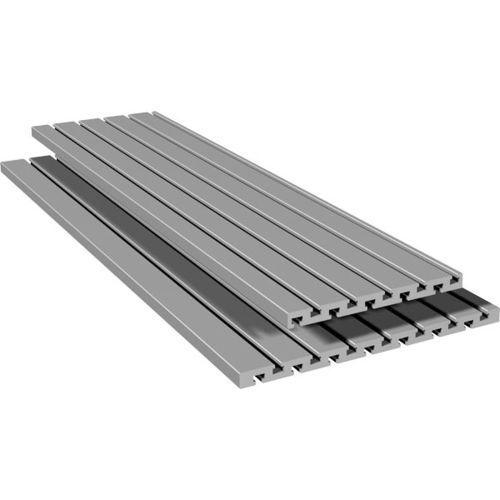 profilo a T / in alluminio anodizzato / con scanalature / a sezione rettangolare