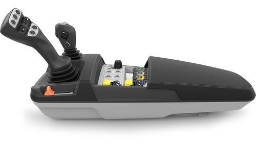 joystick con bracciolo / per veicolo utilitario / multifunzione / con impugnatura di controllo integrata