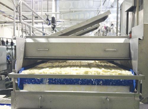 cuocitore industriale con refrigeratore / per riso / continuo