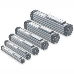 attuatore lineare / pneumatico / compatto